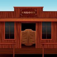 illustration vectorielle de composition ouest saloon entrée vecteur