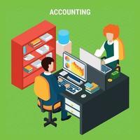 illustration vectorielle de comptabilité bancaire composition isométrique vecteur