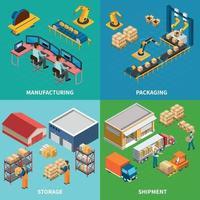 illustration vectorielle de conception d'installations industrielles vecteur