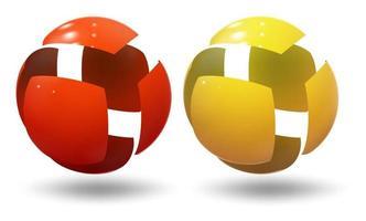 bulle industrielle de boule de sphère de haute technologie vecteur