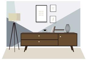 Vector Room et mobilier Illustration