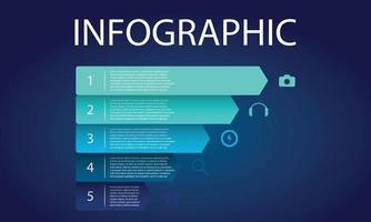visualisation de données infographiques vecteur