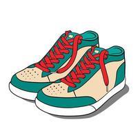 chaussures de sport se bouchent vecteur