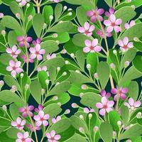 motif sombre de branches fleuries vecteur