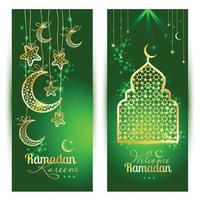ramadan kareem célébration carte de voeux décorée vecteur