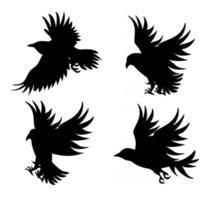 image vectorielle de silhouettes d'oiseaux en vol vecteur