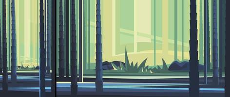 belle forêt de bambous en orientation verticale et horizontale vecteur