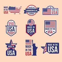 collection de logo made in usa vecteur
