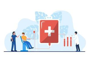 concept de la journée mondiale du donneur de sang vecteur