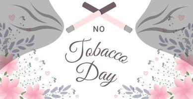 pas de bannière de la journée du tabac vecteur