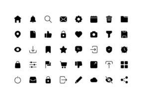 glyphe d'icône d'élément d'interface utilisateur vecteur