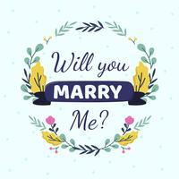 Veux-tu m'épouser vecteur de modèle de cartes