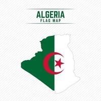 drapeau carte de l'Algérie vecteur