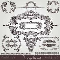vieux design royal vintage vecteur