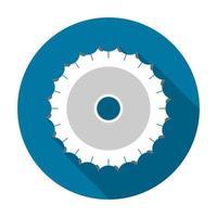 icône de scie circulaire avec style design simple noir grandissime vecteur