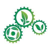 définir l & # 39; équipement écologique et le logo de la feuille vecteur