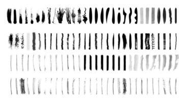 coups de pinceau illustration vectorielle dessinés à la main vecteur
