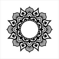 motif de fleurs clipart conception de fleurs et motif de découpe laser vecteur