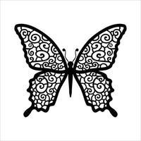 conception de clipart papillon et gabarit de découpe laser vecteur