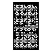 découpe laser obtenir un motif islamique de conception vecteur