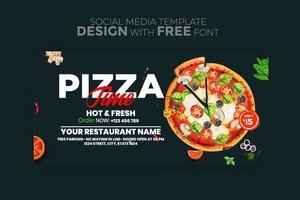 modèle de médias sociaux bannière menu alimentaire vecteur