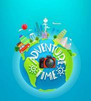 illustration vectorielle de temps d & # 39; aventure vecteur