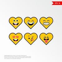 ensemble d'icônes de concept amour emoji avec différentes émotions vector illustration 4