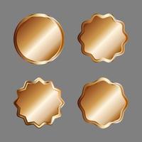 insigne ou étiquettes en or vecteur