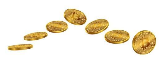 ensemble d'isolat de pièces de monnaie bitcoins un vecteur