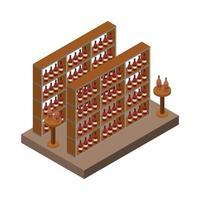 cave à vin isométrique vecteur