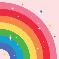 concept d & # 39; un arc en ciel coloré vecteur