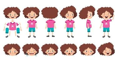 conception de personnage de dessin animé pour l'animation vecteur