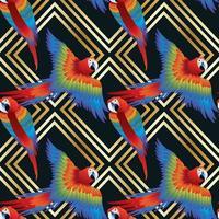 macow oiseau sans soudure sur fond or vecteur
