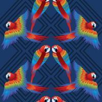 macow oiseaux tropical sans soudure vecteur