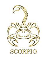 dessin au trait du zodiaque scorpion vecteur