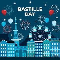 concept de célébration du jour de la bastille vecteur