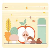 Éléments d'automne de vecteur et illustration