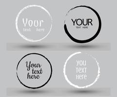 cercle dessiné à la main ligne croquis vector set griffonnage circulaire doodle design rond