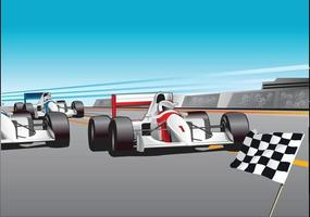 affiche de voiture de course vecteur