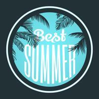 Design typographique d'été
