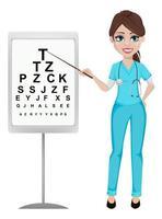 concept de médecine femme ophtalmologiste vecteur