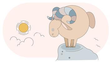 Mouton ram vecteur