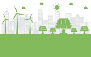 la ville verte de l & # 39; écologie aide le monde avec des idées de concept écologique vecteur