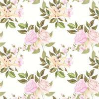 modèle sans couture pour la mode et le textile avec modèle de concept floral vecteur