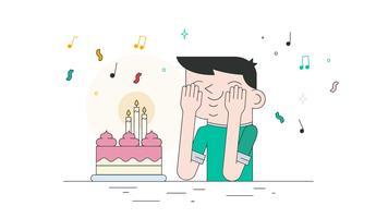Vecteur de gâteau d'anniversaire