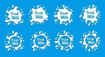 vecteur d'éclaboussure de lait