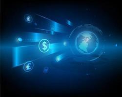 symbole de réseau échange de devises et transfert d'argent vecteur