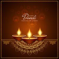 Résumé historique de vecteur de Diwali heureux