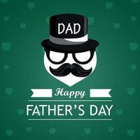 bonne fête des pères carte de voeux avec des cadeaux vecteur