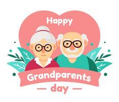 Vecteur de jour des grands-parents heureux